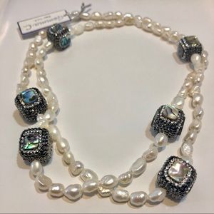 """Jewelry - Gorgeous 36"""" Freshwater Baroque Pearl necklace"""